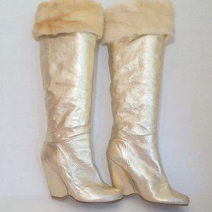 Giuseppe Zanotti Gold Boots OBO 💕